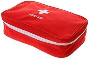Iyhouse Leere Erste-Hilfe-Tasche, für Zuhause, Büro, leer, Rot