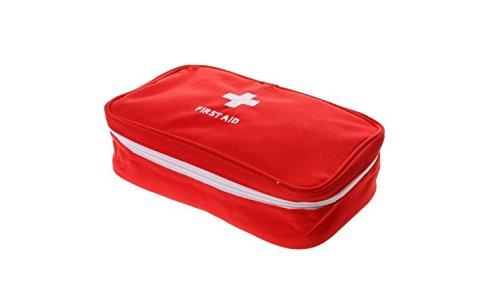 Blu-ray-Residenz Tragbar Air Aid Kit Bag Home Office Leer Medical Tasche Aufbewahrungstasche Rot (Home-aids)