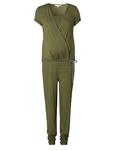 Noppies Damen Umstands Overalls Jumpsuit SS Chloe 70122, Grün (Dark Army C205), 40 (Herstellergröße:L)