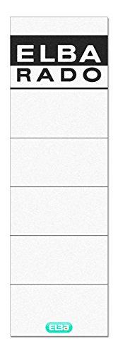 ELBA 100551826 Rückenschilder Rado 10er Pack breit und kurz selbstklebend weiß