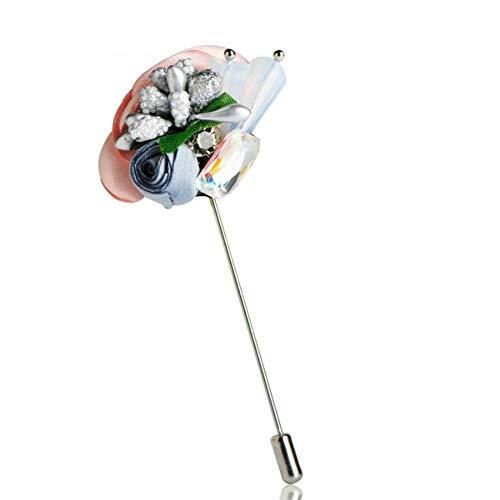 CCJIAC Blumenbroschen Simulierte Perle Pin Frauen Mädchen Strickjacken Sweatshirt Bluse Corsage Bankett Urlaub Zubehör -