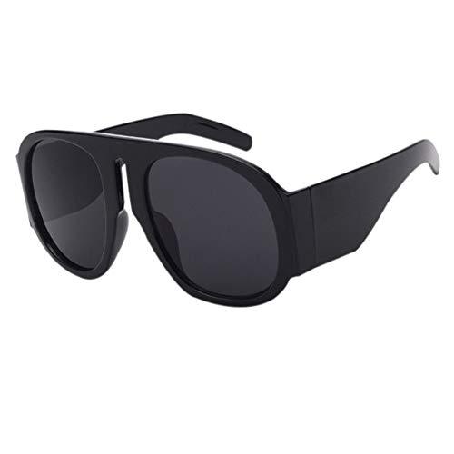 Hzjundasi uv400 blocking black oval occhiali da sole occhiali da guida di design firmati oversized round summer glasses