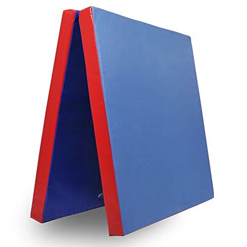 Klappbare Turnmatte - versch. Farben & Größen - Raumgewicht: 22 kg/m³ (200 x 100 x 6 cm, Blau - Rot)