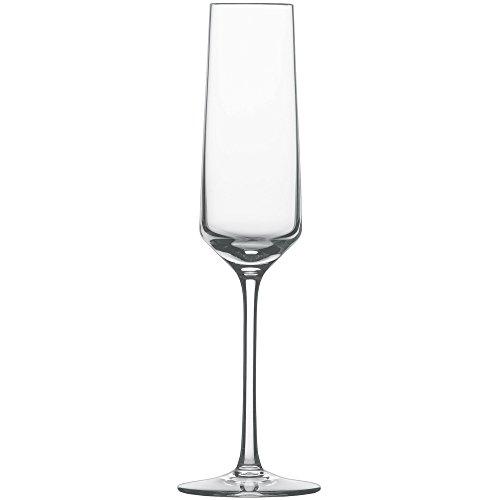 Schott Zwiesel 112415 Serie Pure 6-teiliges Sektglas Set, Kristallglas -