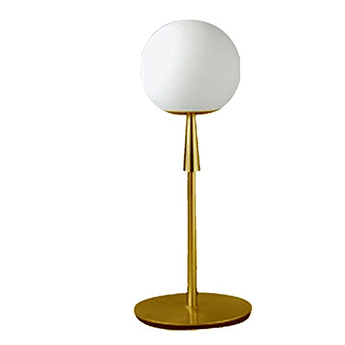 Lampenlux LED Tischleuchte Tischlampe Anita mit Glasschirm gold G9 3W