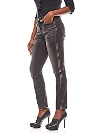 B.C Best Connections verkürzte Hose Flared Jeans Kurzgröße Denim Grau SALE