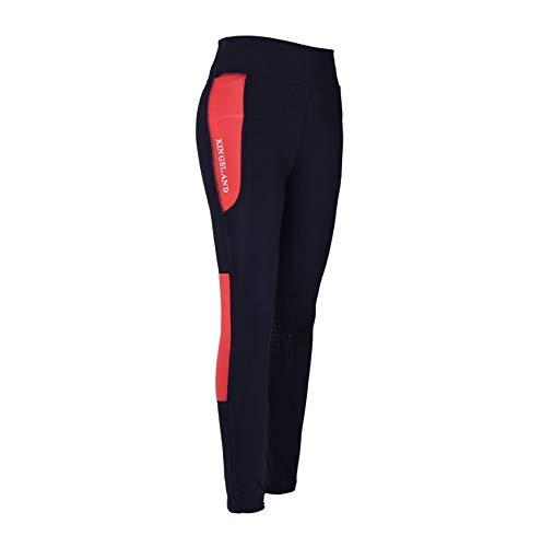 Kingsland Damen Reit Leggings Karina navy rot super bequem Stretchmaterial, Größe:XS