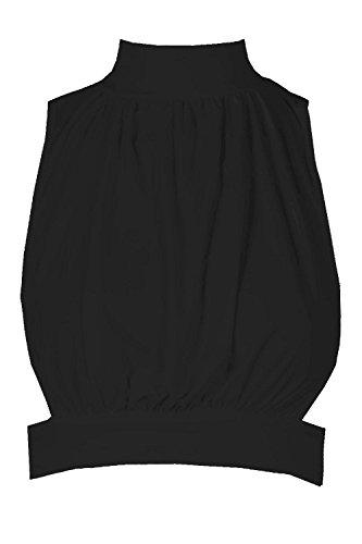 Noir Femmes Helena Top Court Ouvert À Lacets Et Col Montant Noir