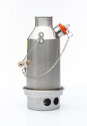Preisvergleich Produktbild 'Trekker' Edelstahl Kelly Kettle 0.6ltr MODELL Alle Geschweißt Konstruktion Keine Nieten Ultra schnell Zelten Wasserkocher. Holz genährt. Nein Batterien,Kein Gas,GRATIS Fuel! Für wandern und Wandern.