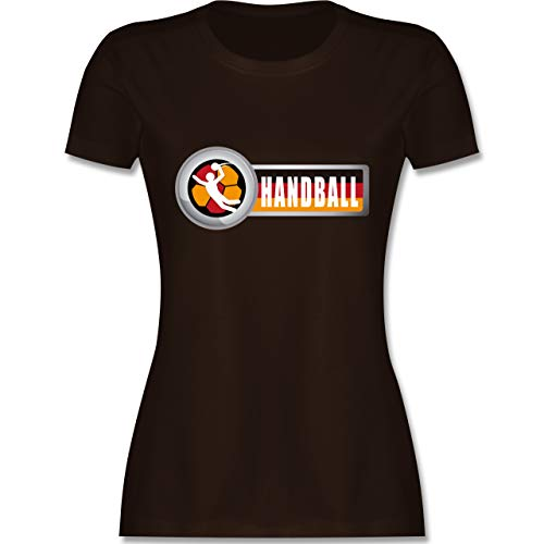 Handball WM 2019 - Handball Deutschland 2 - S - Braun - L191 - Damen Tshirt und Frauen T-Shirt