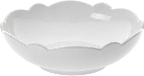 Alessi Mw01/54 Dressed Coupelle en Porcelaine Blanche avec Décoration en Relief, Set de 4 Pièces