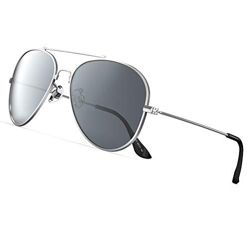 PAERDE Polarisierte Sonnenbrille Herren Damen UV400 Schutz Outdoor lässiger Stil Memory Metall Sonnenbrille