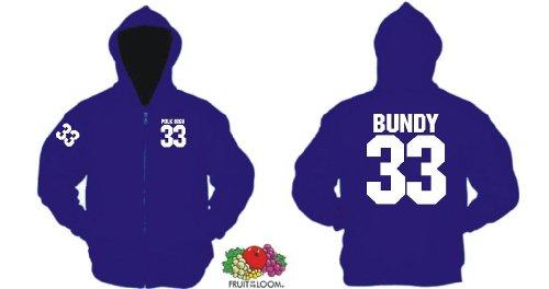 Kostüm High School Nette - world-of-shirt Herren Kapuzenjacke Al Bundy Polk High 33
