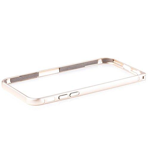 iCues Apple iPhone 6S/6 | Alu Bumper Clip Gold | [Display Schutzfolie Inklusive] CNC Aluminium Metall Metallic Rahmen Case Hülle Schutzhülle - 4s Case Bumper Iphone Aluminium