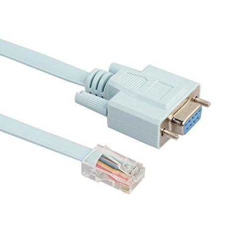 QinMM Konsolenkabel RJ45 Zu DB9 CabConsole 72-3383-01 Für Cisco Schalter Router Hellblau