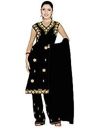 Trendofindia Schwarzes Salwar Kameez/Punjabi Größe M