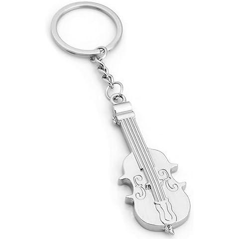 TOOGOO(R) Llavero Metal Colgante Violin Moda Regalo Mujer Hombre
