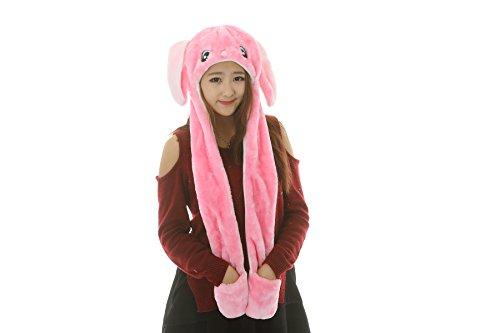 25 Arten Cartoon Plüsch Tier Hüte mit Schals Handschuhe Handschuhe Leistung Requisiten (pink (Handschuhe Braune)