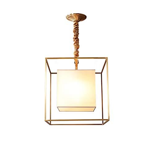 Pendelleuchte Schatten Leuchter Bar Lampe chinesischen Stil Kreative alle Bronze Kunst Restaurant Cafe Bar Zähler Persönlichkeit Square Kronleuchter (Size : 30cm) - Bronze Square Bars