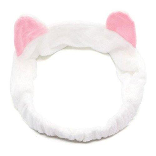 Xuniu Nette Katze Ohr Stirnband Frauen Elastisches Haarband Für Wasch Dusche Make-Up