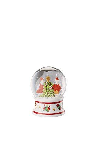 Hutschenreuther Christmas Memories de 40 Ans Ole Winther Boule à Neige Diamètre 6 cm, Porcelaine, Multicolore, 9 x 9 x 10 cm