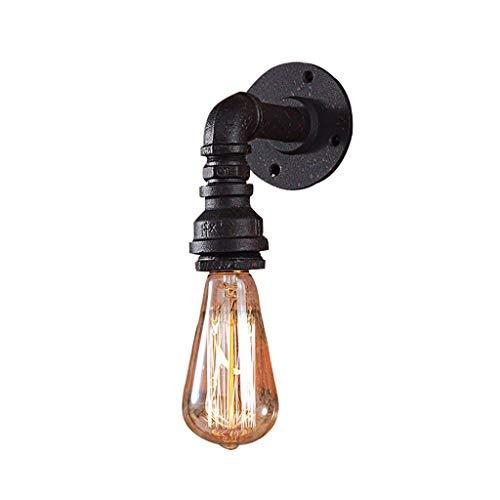 e Wand Lampe, Industrieausführung Dekorative Rohr Wandleuchte Land Glas Eisen Wandleuchte Clothing Store Cafe Restaurant Bar Wandleuchte (Größe: Zwei Geladen) ()