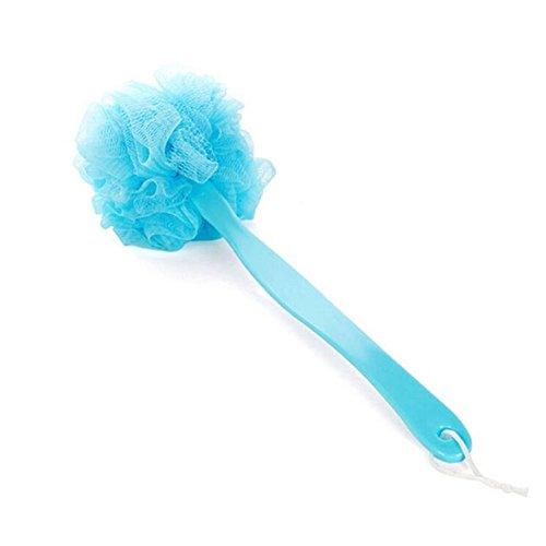 Ensemble de 2 durable Longue Poignée bain Brosse / brosse douce, Bleu