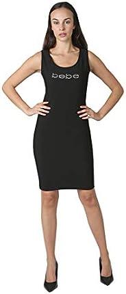 bebe Women's Sleeveless Short Slim Knit Little Black D