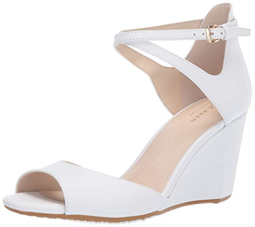 Cole Haan Damen Open Toe Wedge 75MM Sadie Grand Sandale mit Keilabsatz, vorne offen (75 mm), weiß, 40 EU Cole Haan Open Toe Pumps