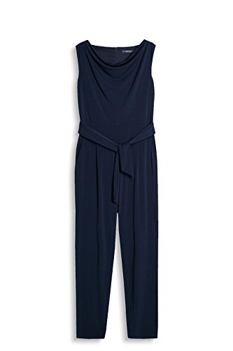 ESPRIT Collection Damen Jumpsuits 037EO1L001, Blau (Navy 400), 42 (Herstellergröße: XL) - 3