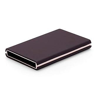 WEII Mode Kreative Brieftasche Diebstahl Pinsel Aluminium Kartenhalter Automatische Pop-Up-Karte Fall Multifunktions Antimagnetische Kartenhalter,Braun A,Einheitsgröße