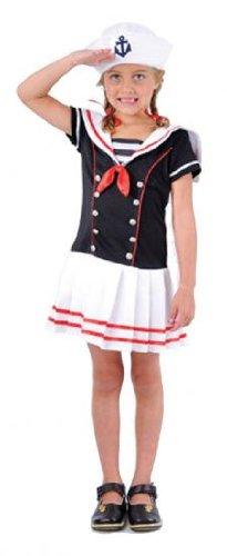 Child Sassy Sailor Girl Costume - Large Fancy Dress
