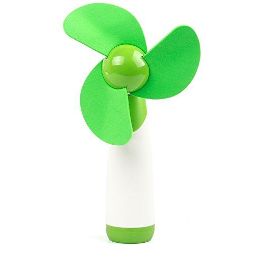 TRIXES Handventilator mit weichen Flügeln und verstellbarem Kopf in Grün