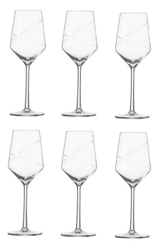 Schott Zwiesel Pure Loop Weißweinglas, Glas, transparent 25.9 x 18 x 23.9 cm, 6-Einheiten