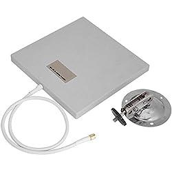 Zerone WiFi Antenna Flat Panel, 2.4Ghz 14 DBI Haute Gain WiFi WLAN Extender Longue Portée Universel Intérieur/Extérieur WiFi Signal Booster Adaptateur avec Connecteur Femelle RP-SMA