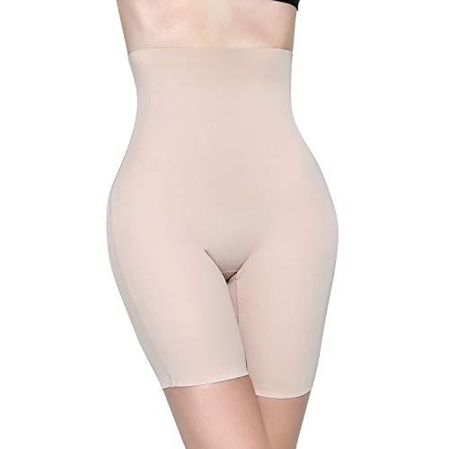 MOVWIN Shapewear Damen Miederhose Bauch Weg Stark Body Shaper Figurenformend Hohe Taille Miederslip Unterhose Taillenformer Firm Foundations für Frauen, Beige A, XL (Kleider Verkauf Für Schöne)