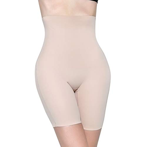 MOVWIN Shapewear Damen Miederhose Bauch Weg Stark Body Shaper Figurenformend Hohe Taille Miederslip Unterhose Taillenformer Firm Foundations für Frauen, Beige A, S
