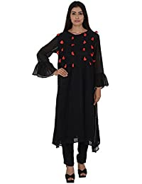 Rina Dhaka Women's Cotton A-Line Kurta