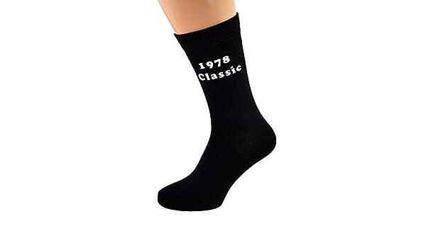 1957 Classic Printed Design Mens Black Socks Great 60th Birthday Gift 2017