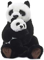 WWF 15183008 - Peluche, Mamma Panda con Il Suo Cucciolo, 28 cm