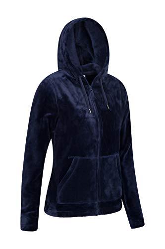 Mountain Warehouse Snaggle Damen-Fleecejacke mit Kapuze Marineblau DE 32 (EU 34) - 2