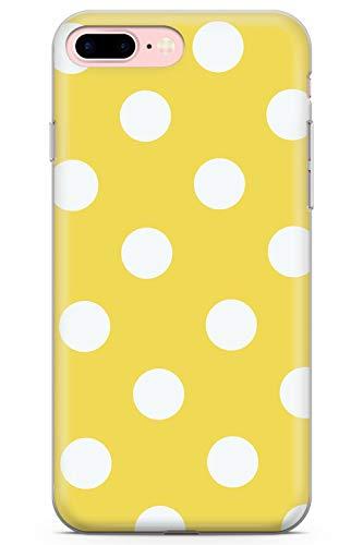iPhone 7 Plus / 8 Plus Lunar Amarillo Soleado Funda de Teléfono de Goma Cover Moda Linda Tendencias Chicas Estilo
