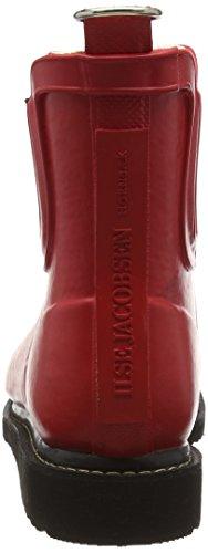 Ilse Jacobsen Damen Gummistiefel Kurz, Rub47f, Bottes en caoutchouc avec doublure intérieure femme Rouge - Rot (Tief Rot (303))