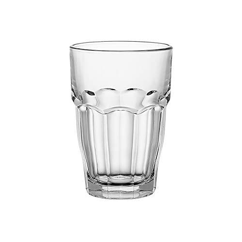 Bormioli Rocco 516170 Rock Bar Longdrinkglas, 370 ml, Glas, transparent, 6 Stück Bormioli Rocco Rock Bar