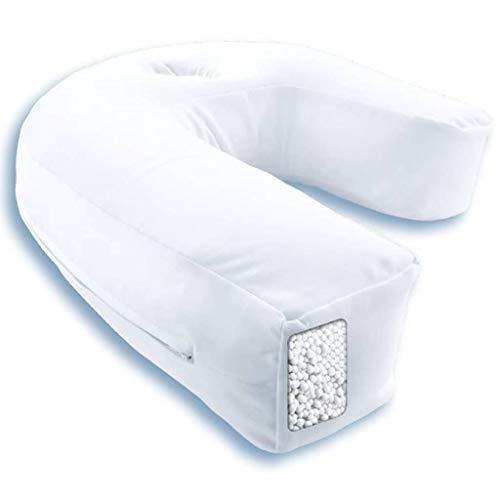 Side Sleeper Pro Air - Seitenschläferkissen - Perfekte Unterstützung - Korrekte Haltung Von Hals Und Wirbelsäule - 42x37x15cm - Weiß (Unterstützung Haltung)