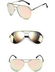 Xiaochou@sl Frauen Männer Sonnenbrillen Premium Military Style Classic Aviator Sonnenbrillen, polarisiert, 100% UV-Schutz klar
