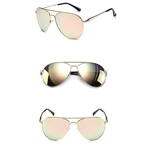 WUJIEXIAN-JXL Gläser 100% UV-Schutz, polarisiert, Männer Frauen Sonnenbrillen Agiotage Military Style Klassische Aviator Sonnenbrillen Sonnenschutz (Color : Yellow)