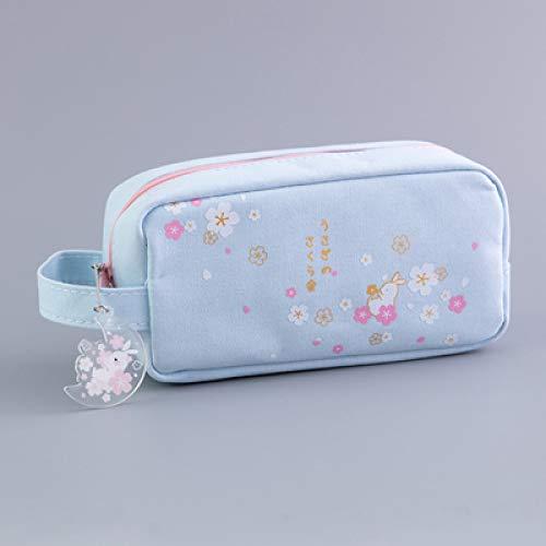 Kostüm Reh Einfache - Sakura Double Layer Stift Tasche Mit Großem Fassungsvermögen Handschellen Aufbewahrungstasche Für Jungen Und Mädchen Einfache Kleine Frische Aufbewahrungsbox