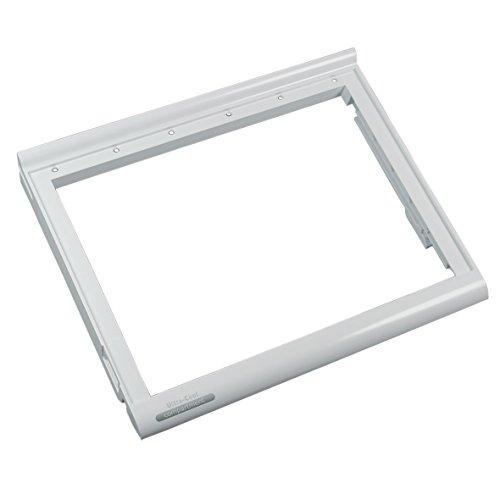 Whirlpool 481241828359 ORIGINAL Rahmen Ablage Deckel für Schublade unten 405x342x47 Weiß Kühlschrank Side-by-Side US Kühlgerät auch Bauknecht IKEA KitchenAid SMEG Indesit Ariston Hotpoint C00195483 -