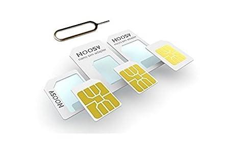 Kit Adaptateur Nano-SIM, Micro-SIM, Carte SIM + Pic Extracteur pour